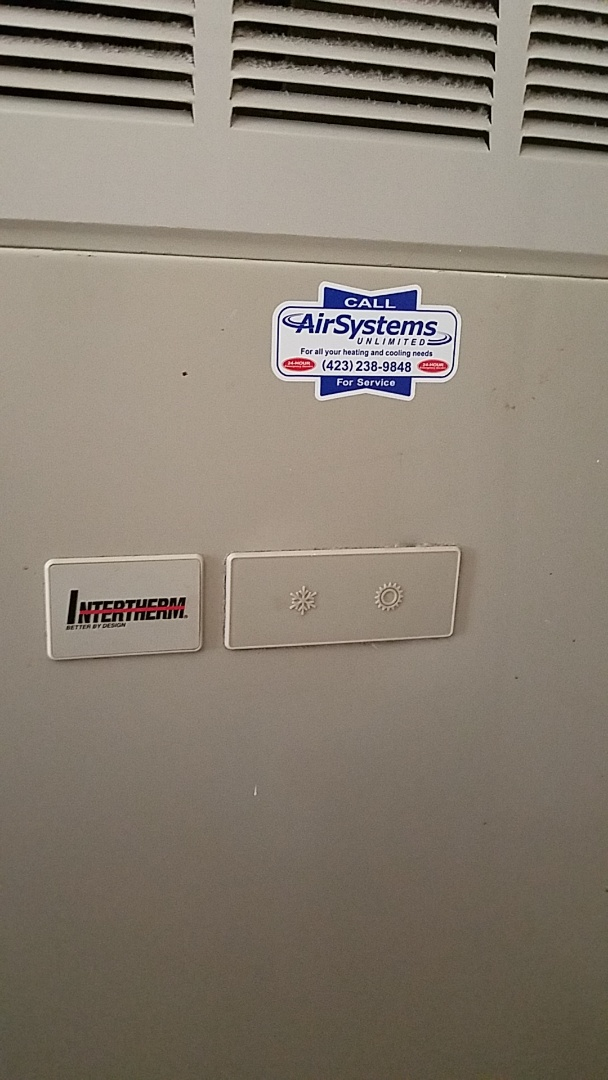 Collegedale, TN - Service call. Performed repair on Intertherm furnace.