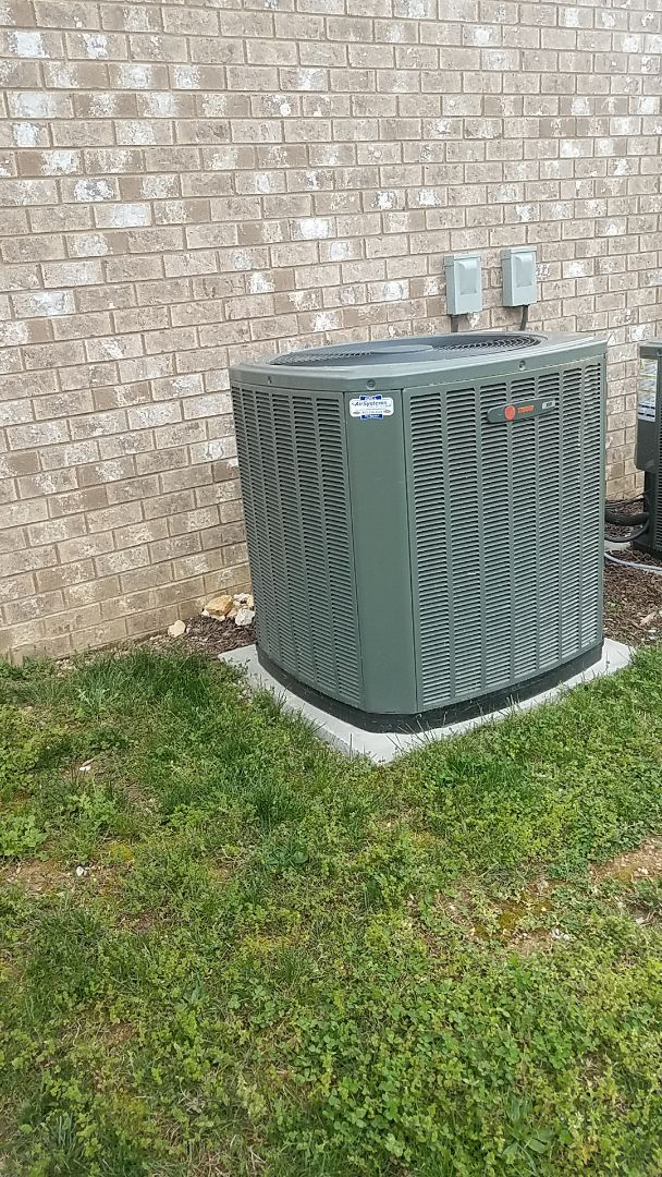 Harrison, TN - Service call. Performed service on a Trane Heat Pump system.