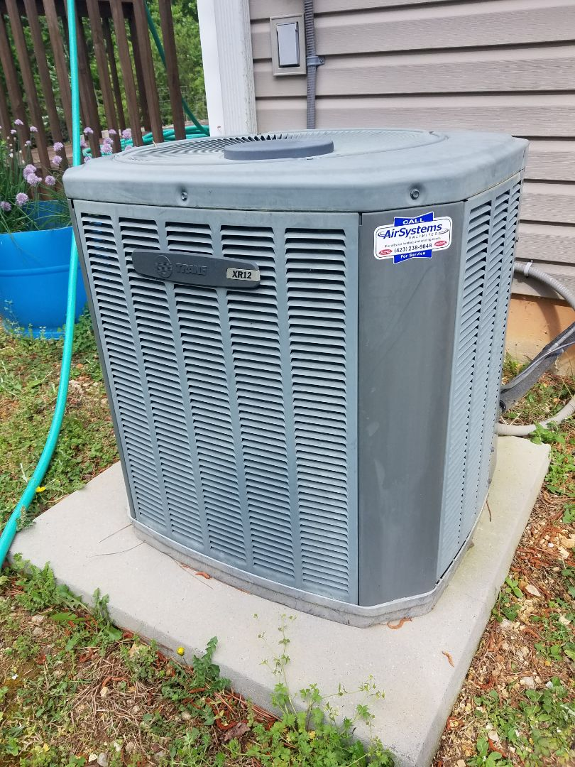 McDonald, TN - Service call. Performed repair on Trane heat pump