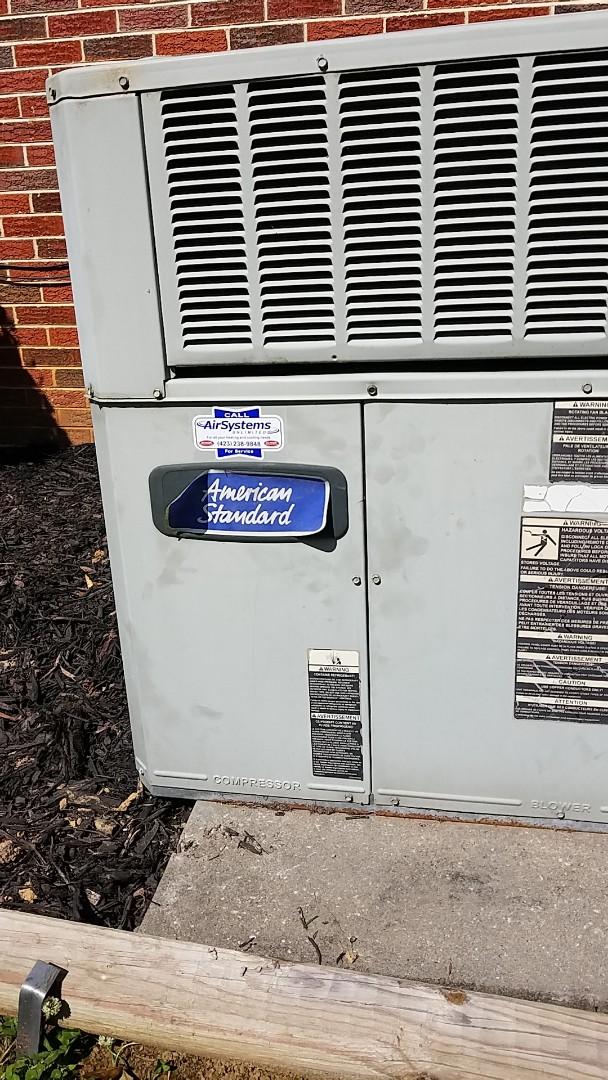 McDonald, TN - Service call. Performed repair on American Standard heat pump
