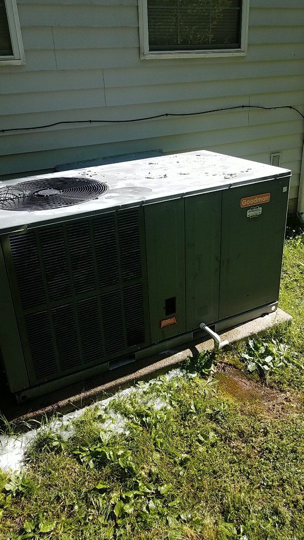 Birchwood, TN - Service call. Performed maintenance on a Goodman package unit.