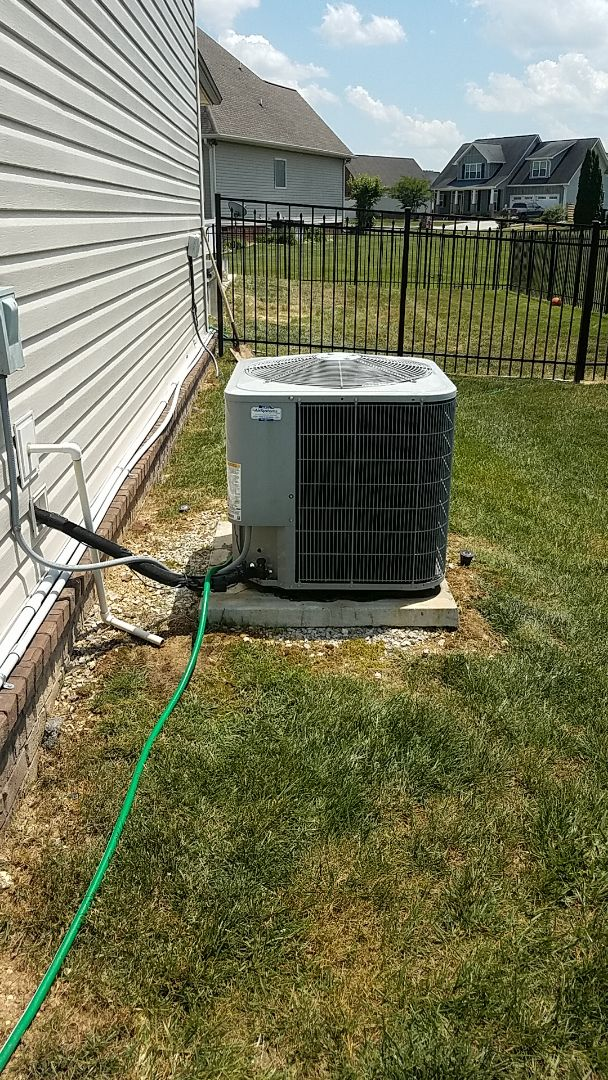 Service call. Performed service on Carrier Heat Pump system.