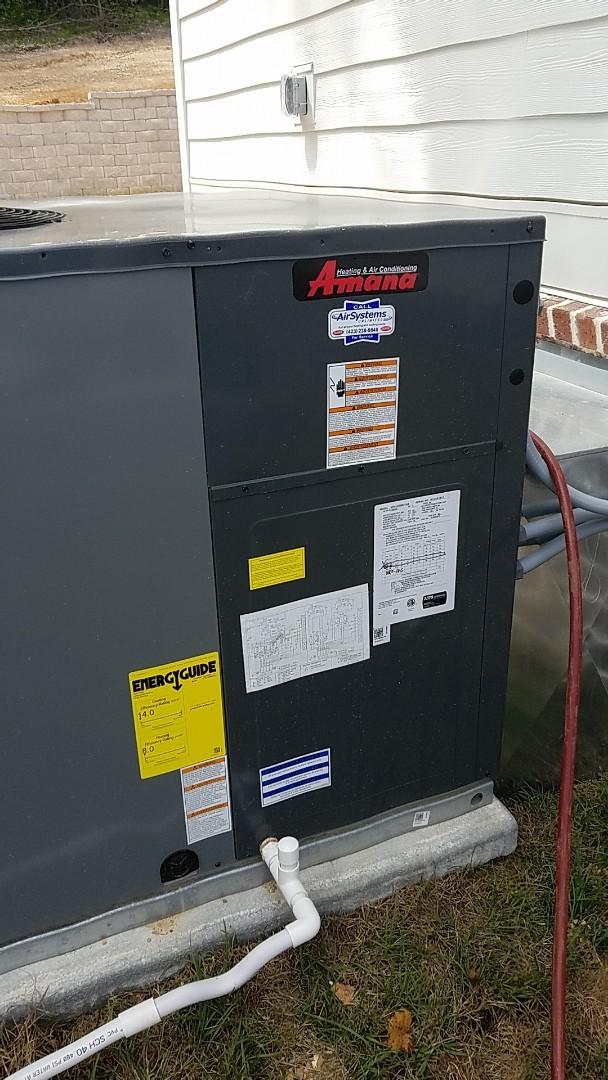 Georgetown, TN - Service call. Performed repair on Amana AC