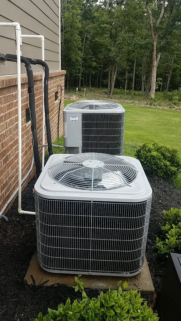 Signal Mountain, TN - Service call. Performed A/C maintenance on two Carrier Heat Pump systems.