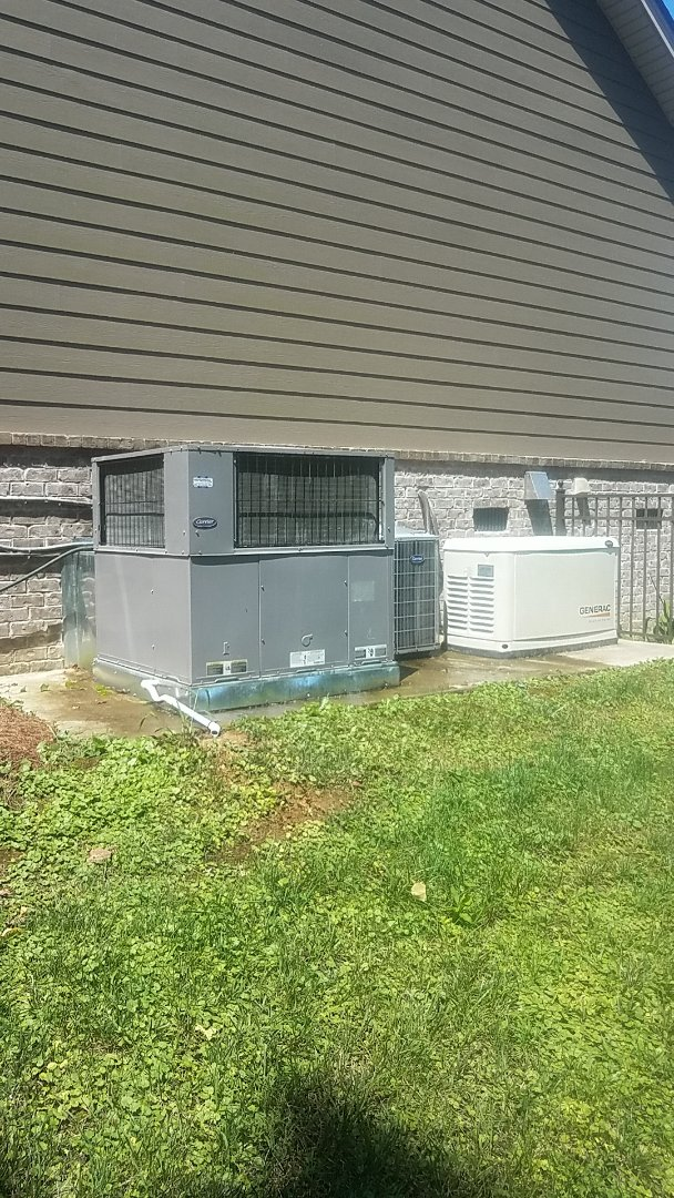Harrison, TN - Service call. Performed A/c maintenance on two Carrier Heat Pump systems.