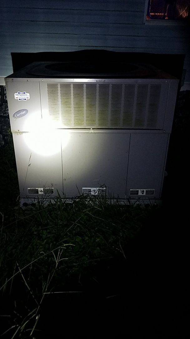 Apison, TN - Service call. Performed A/c service on a Carrier Heat Pump system.