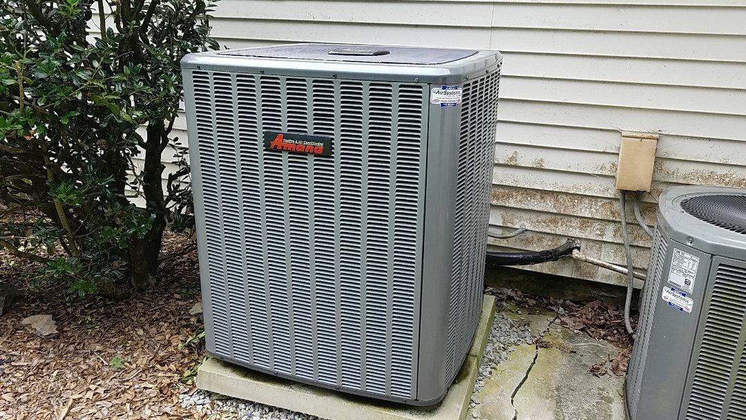 McDonald, TN - Service call. Performed repair on Amana heat pump