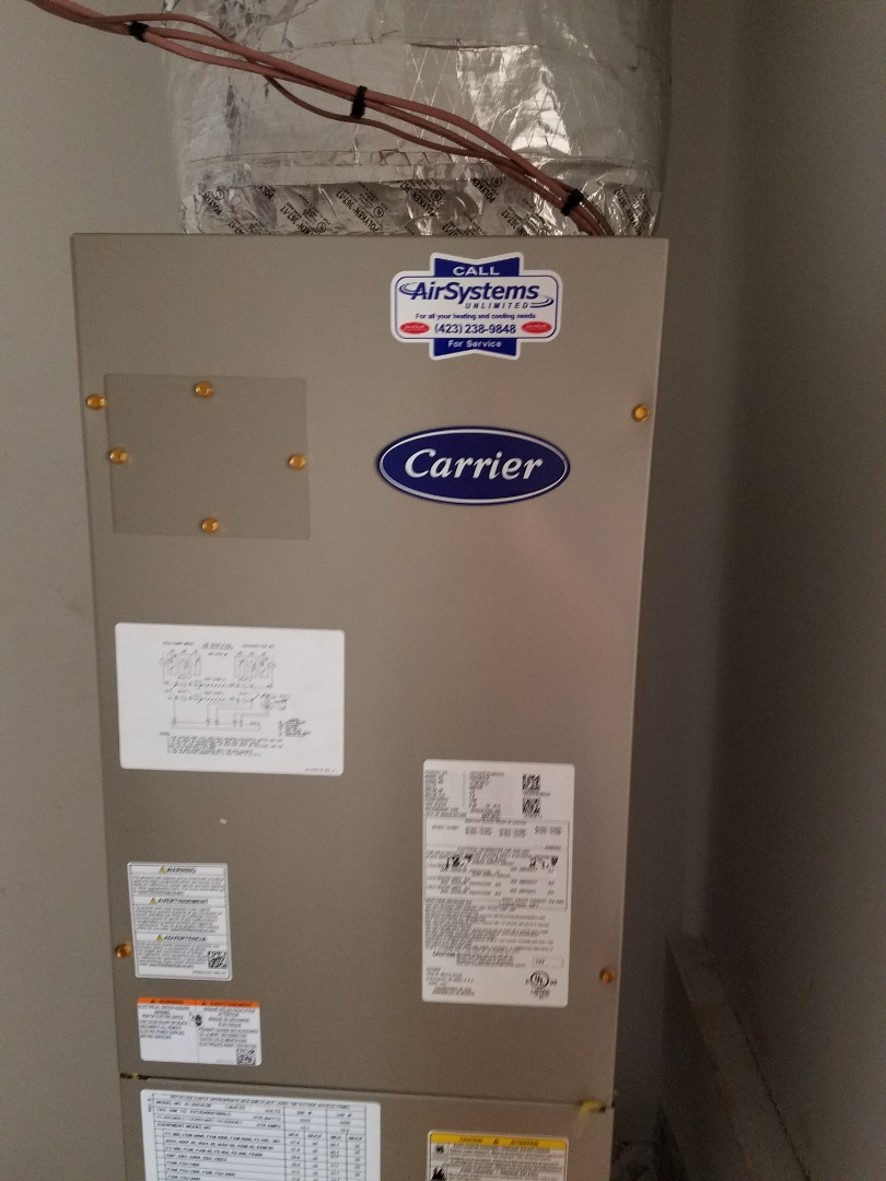 Apison, TN - Installation call. Performed install of Carrier heat pump
