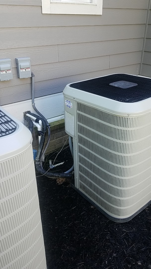 Ooltewah, TN - Service call. Performed A/c service on two Nordyne systems.