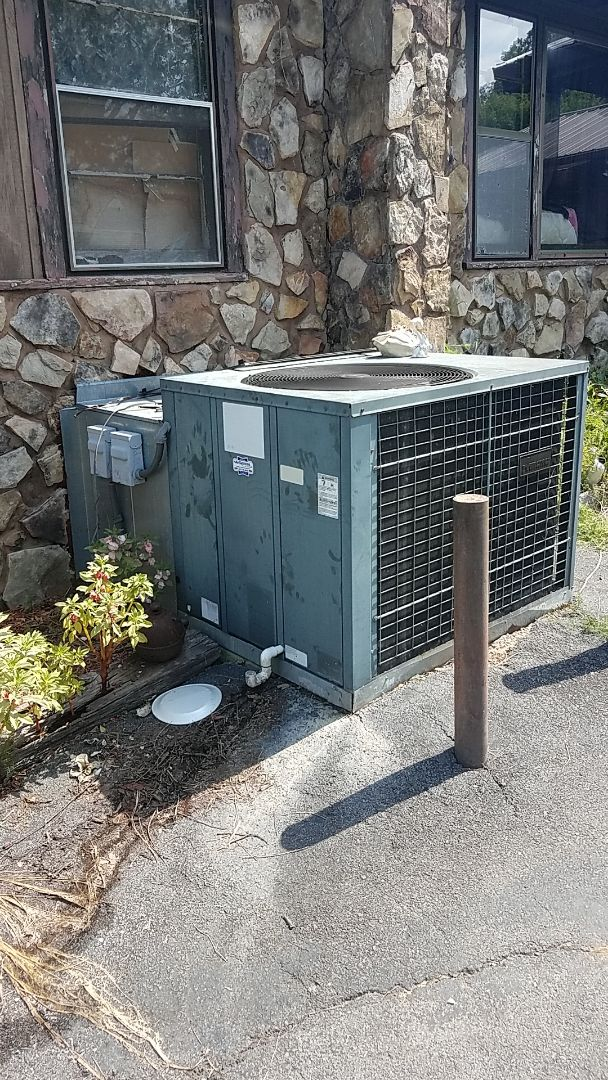 Service call. Performed service on an Amana Heat Pump package unit.