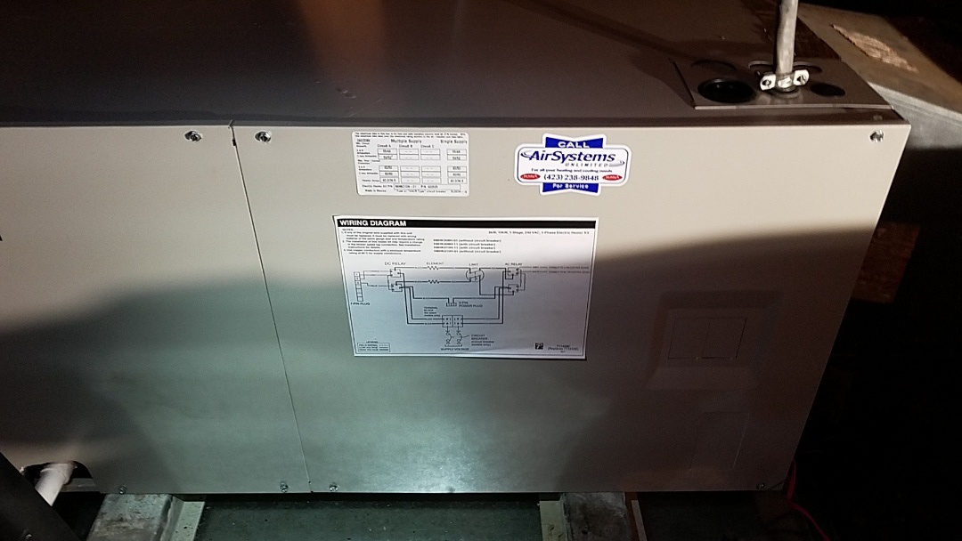 McDonald, TN - Installation call. Performed install of Airtemp heat pump
