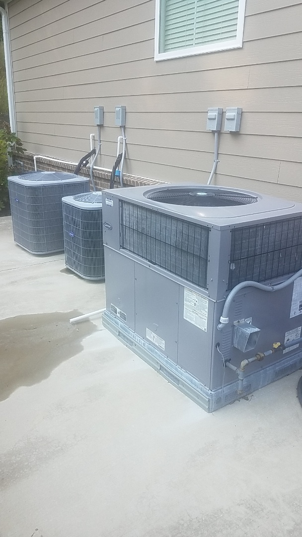 Chattanooga, TN - Service call. Performed Fall maintenance on three Carrier Gas systems.