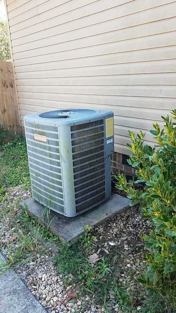 Birchwood, TN - Service call. Performed service on a Goodman Heat Pump system.