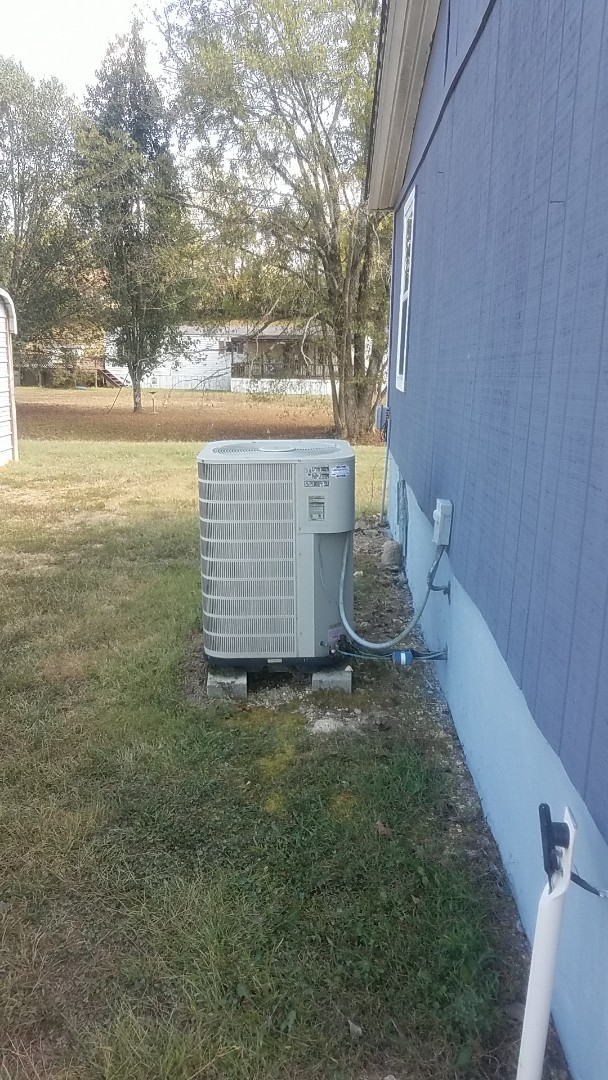 Georgetown, TN - Service call. Performed service on a Frigidaire Heat Pump system.