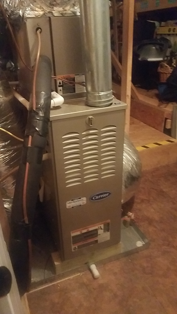 Ooltewah, TN - Service call. Performed maintenance on two Carrier Furnaces.
