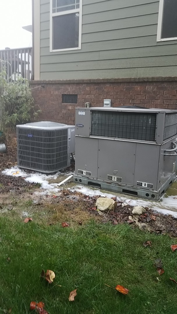 Signal Mountain, TN - Service call. Performed Fall maintenance on two Carrier Heat Pump systems.