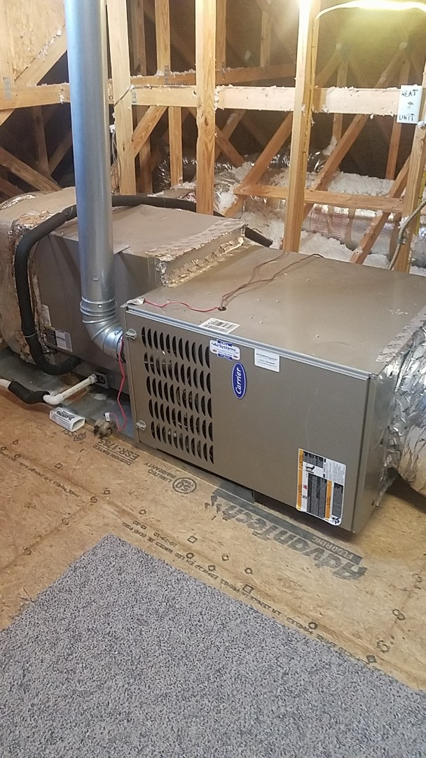 Ooltewah, TN - Service call. Performed Fall maintenance on two Carrier Furnaces.
