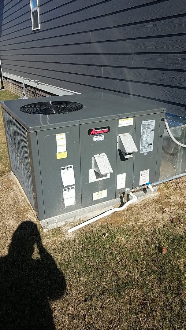 Ooltewah, TN - Service call. Performed Fall maintenance on two Amana systems.