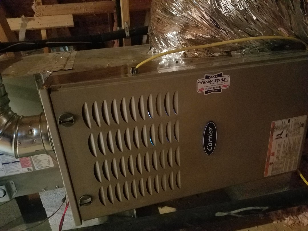 Cleveland, TN - Installation call. Performed install of Carrier gas furnace