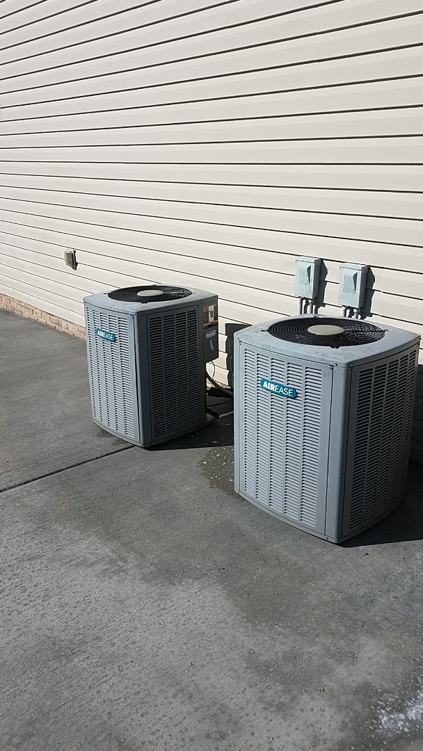 Cleveland, TN - Service call. Performed Fall maintenance on two Airease Heat Pump systems.