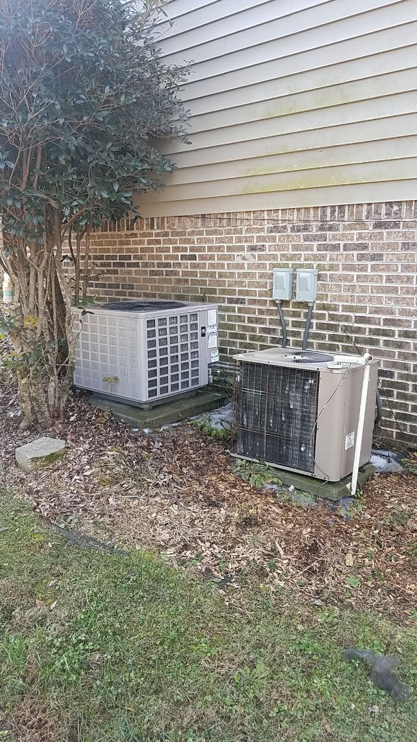 Cleveland, TN - Service call. Performed Fall maintenance on two Heat Pump systems.