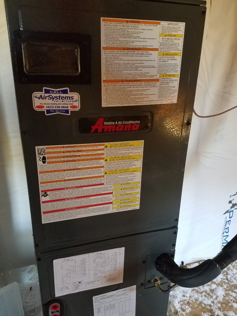 Cleveland, TN - Installation call. Performed install of Amana heat pump