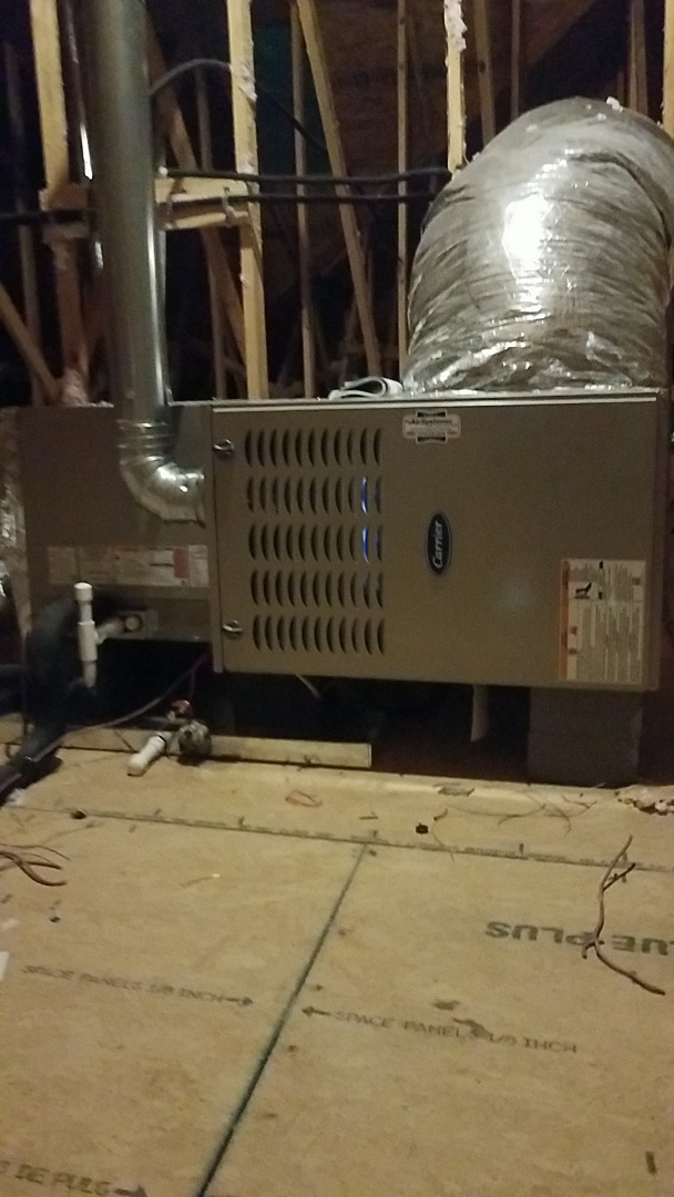 Cleveland, TN - Installation of a new Carrier Furnace.