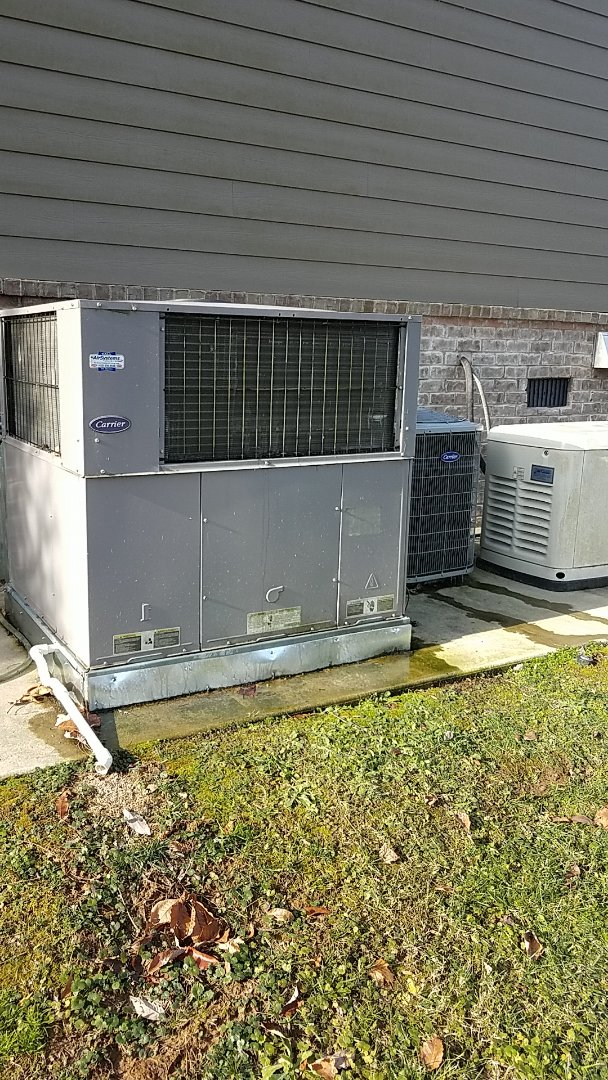 Harrison, TN - Service call. Performed Fall maintenance on two Carrier Heat Pump systems.
