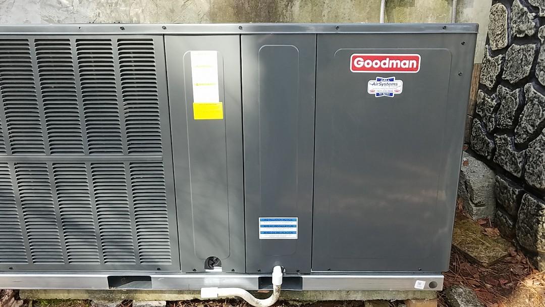 McDonald, TN - Installation call. Performed install of Goodman Heat pump.