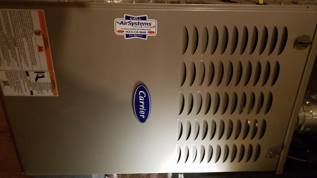 Ooltewah, TN - Service call. Performed repair on Carrier furnace