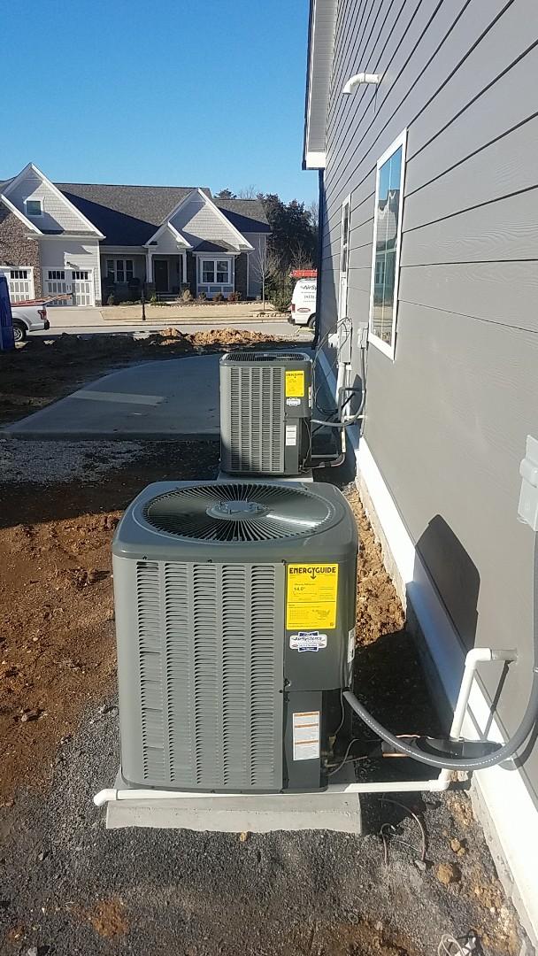 Ooltewah, TN - Installation of a new Amana Heat Pump and an Amana Gas Furnace.