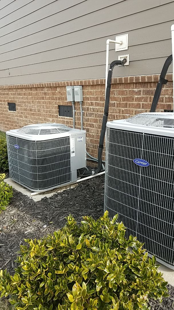 Signal Mountain, TN - Service call. Performed Winter maintenance on two Carrier Heat Pump systems.