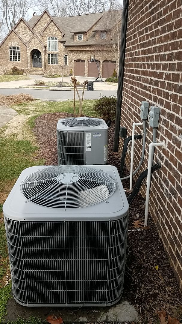Ooltewah, TN - Service call.  Performed Winter maintenance on two Carrier Heat Pump systems.