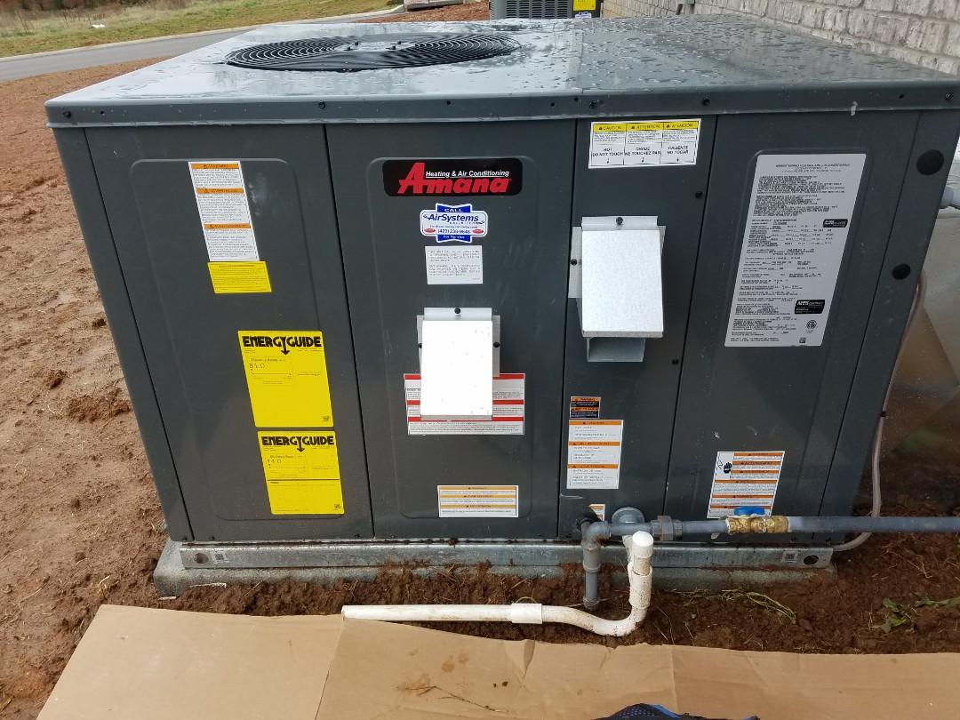 Cleveland, TN - Perfromed install of Amana AC