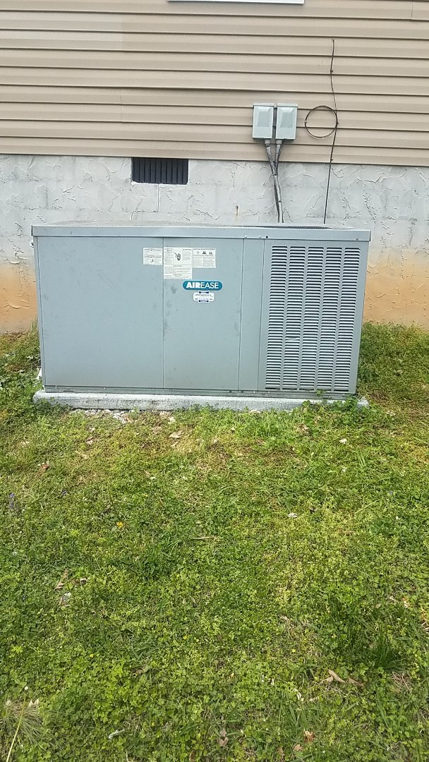 Cleveland, TN - Service call.  Performed service on an Airease Heat Pump system.