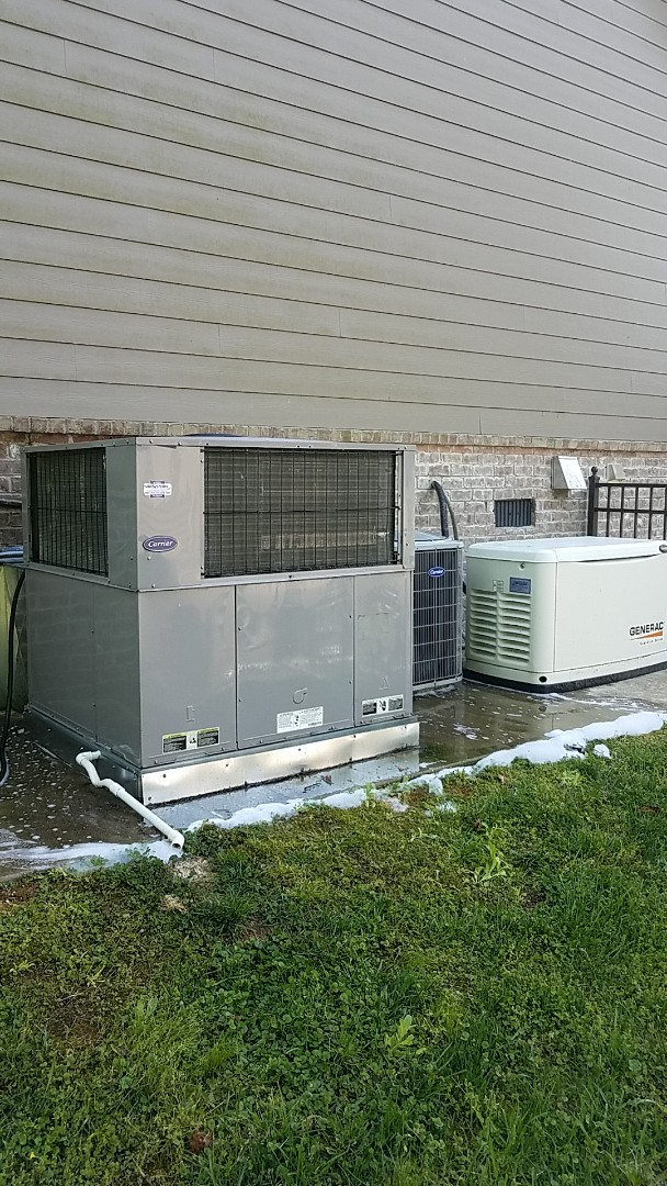 Harrison, TN - Service call.   Performed Spring maintenance on two Carrier AC systems.