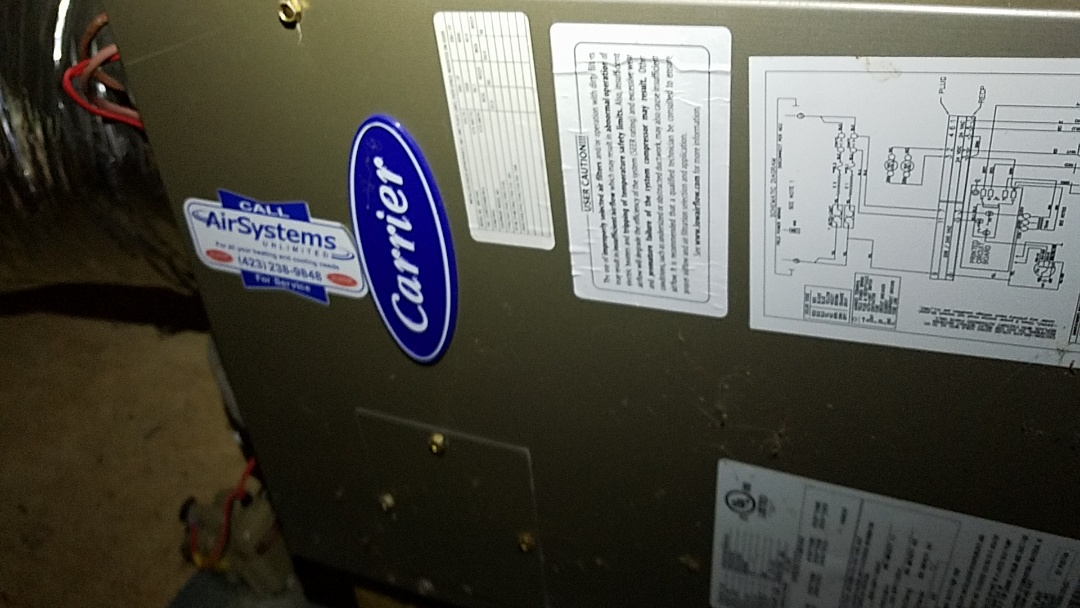 Signal Mountain, TN - Service call. Performed repair on Carrier heat pump