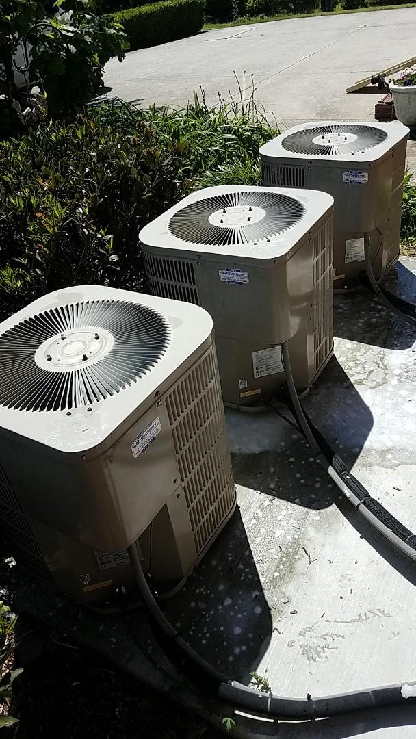 McDonald, TN - Service call.  Performed Spring maintenance on three Goodman AC systems.
