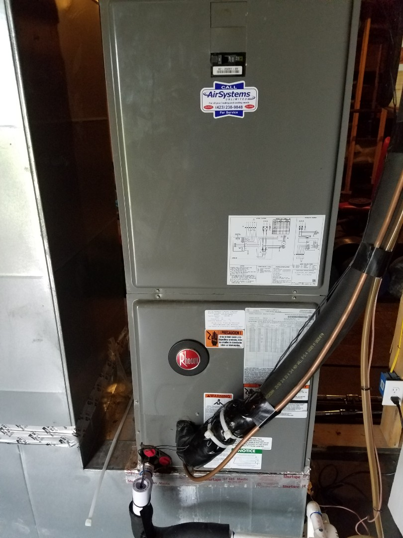 McDonald, TN - Service call. Performed repair on Rheem heat pump