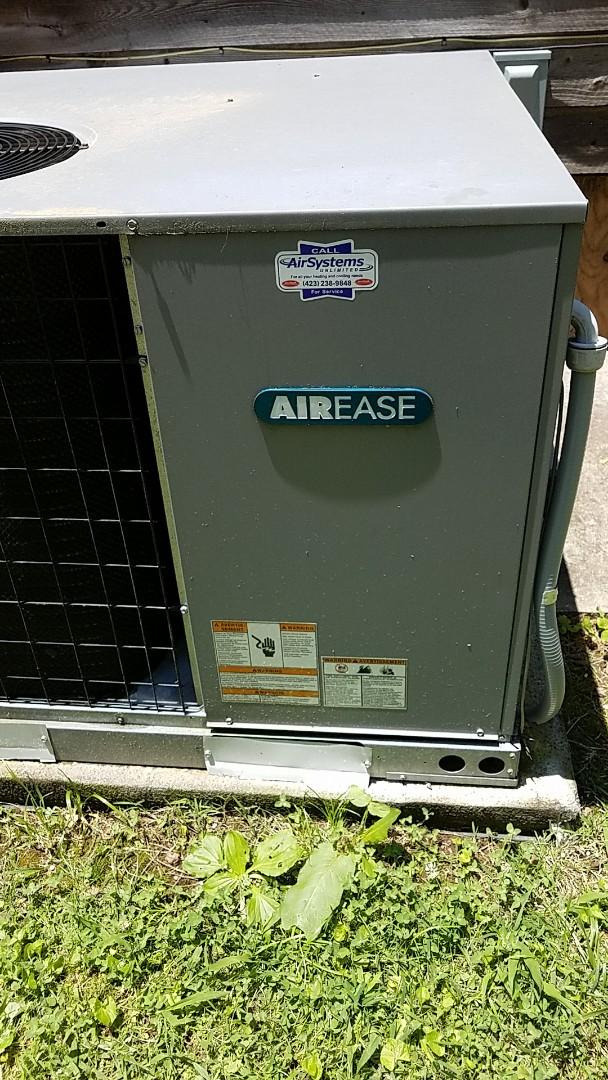 McDonald, TN - Service call. Performed repair on Airease heat pump