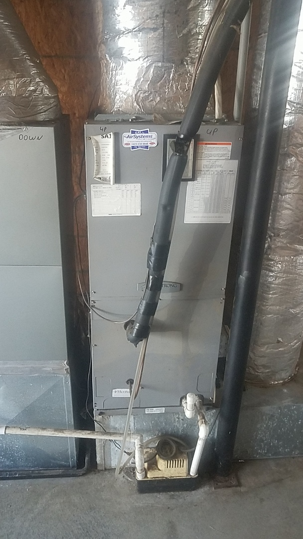 Harrison, TN - Service call.  Performed service on an Armstrong air handler.