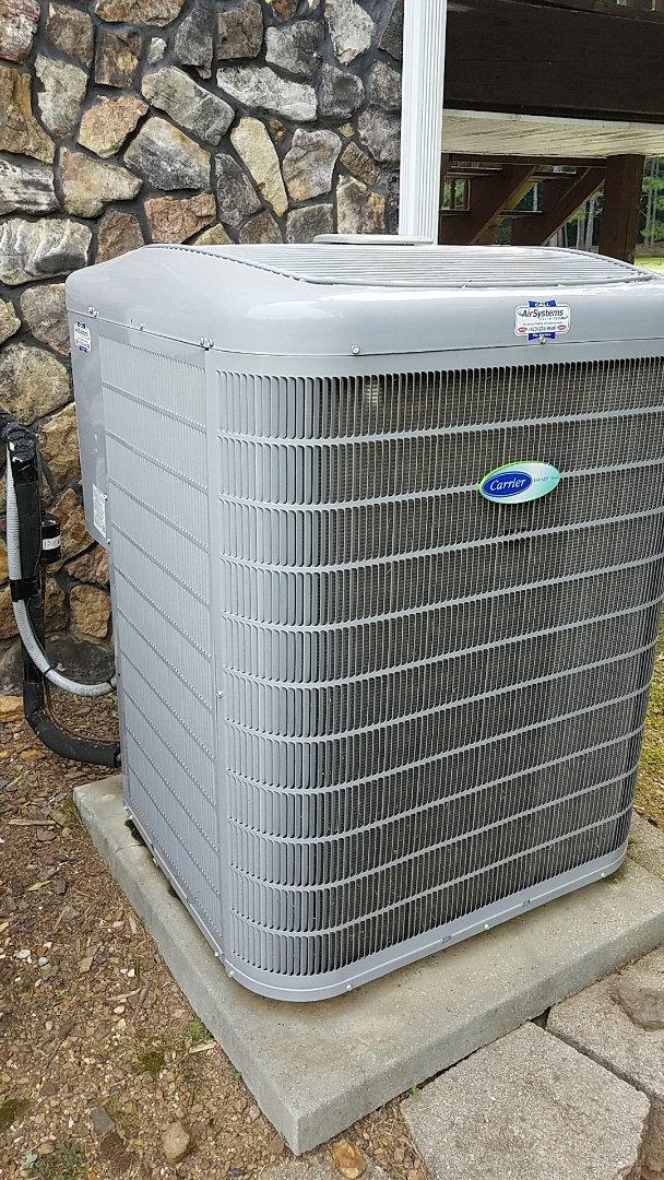 McDonald, TN - Service call. Performed repair on Carrier heat pump