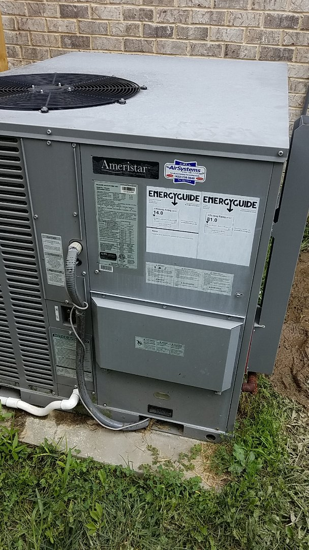 Ooltewah, TN - Service call. Performed repair on Ameristar AC