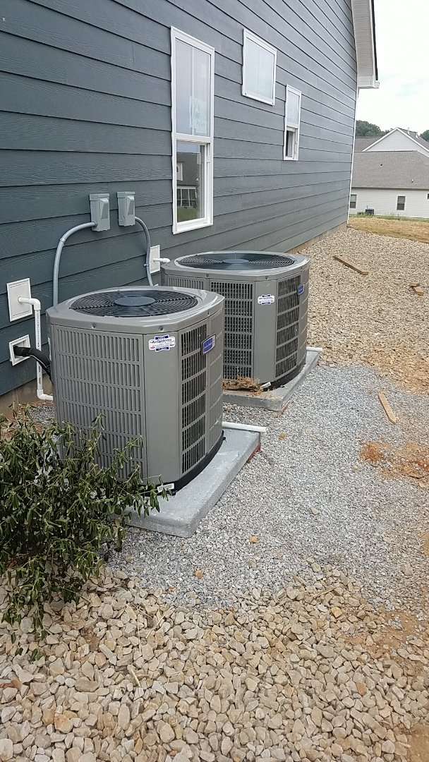 Apison, TN - Installation of two new American Standard AC systems.