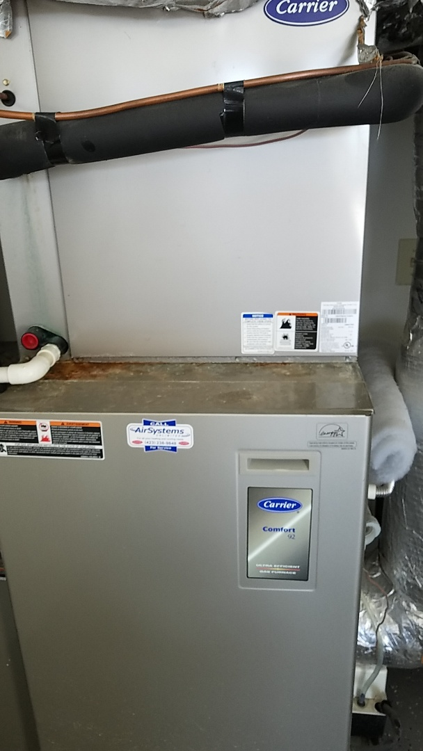 Chattanooga, TN - Service call. Performed repair on Carrier AC