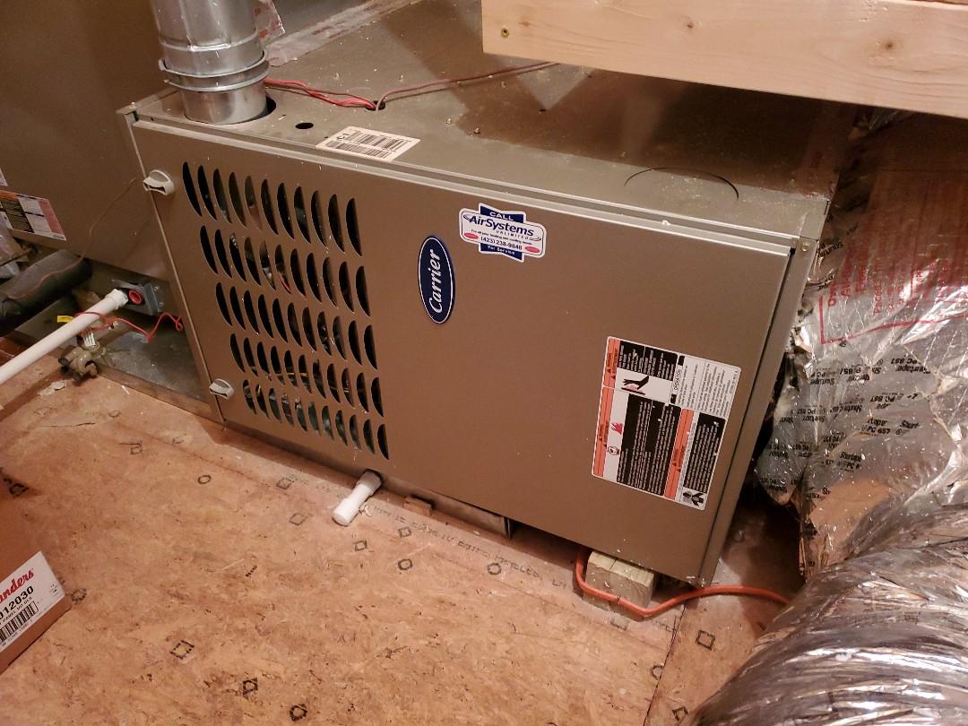 Ooltewah, TN - Maintenance Call. Performed maintenance on Carrier furnace.