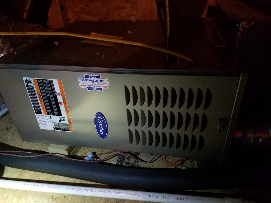 Apison, TN - Service call. Performed repair on Carrier furnace.