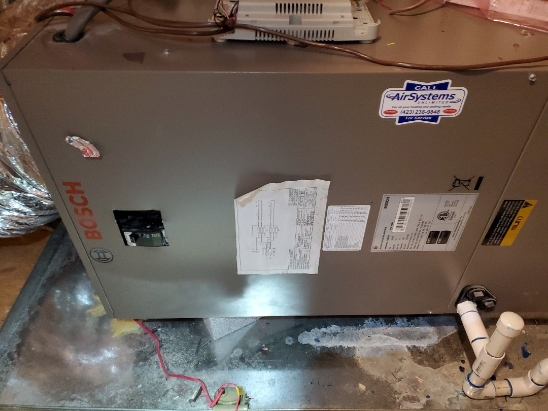 Apison, TN - Service call. Performed repair on Bosch heat pump.