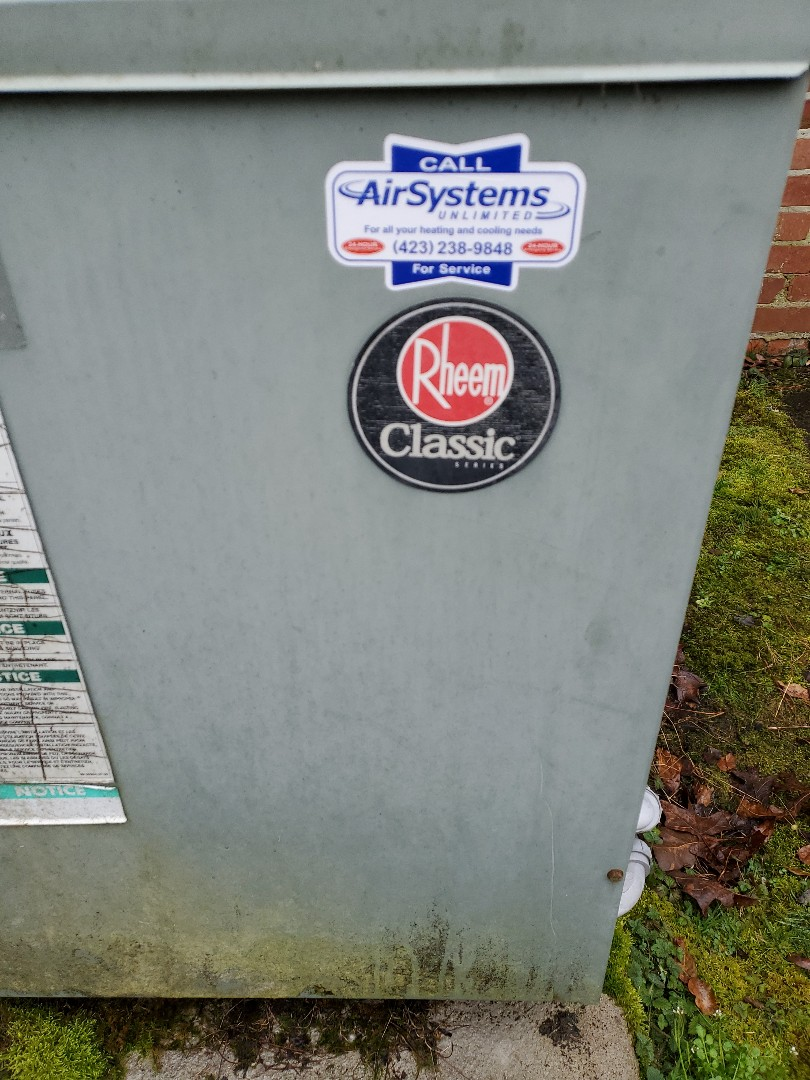 McDonald, TN - Service call. Performed repair on Rheem heat pump.