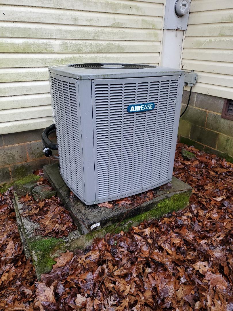 McDonald, TN - Service call. Performed repair on Airease heat pump.